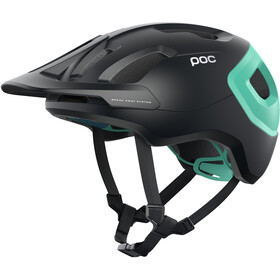 POC Axion Spin Helm, uranium black/fluorite green matt